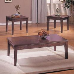 Chester Merlot 3-Piece Set with Coffee Table and 2 End Tables