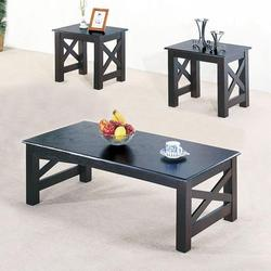 Tahoe Transitional Three Piece Coffee Table and End Tables Occasional Set