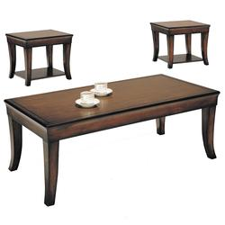7825 Branford 3 Piece Pack Cherry Wood Coffee and End Table Set