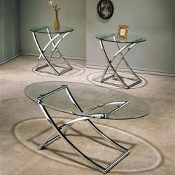 Paradise 3 Piece Beveled Glass Top Occasional Set
