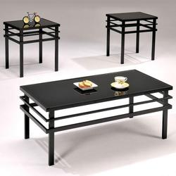 Washington 3 Piece Glass-top Cocktail and End Table Set