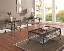 Nansen 3 Piece Transitional Table Set with Slate Inserts