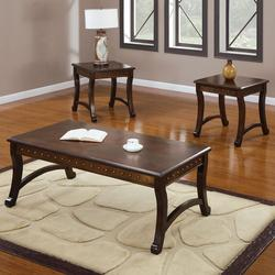 Belita 3 Piece Coffee and End Table Set with Nailhead Detail