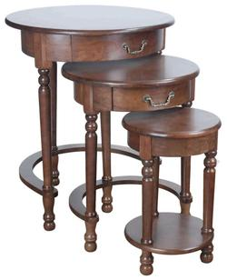 Ince 3 Piece Nesting Table Group with Turned Legs