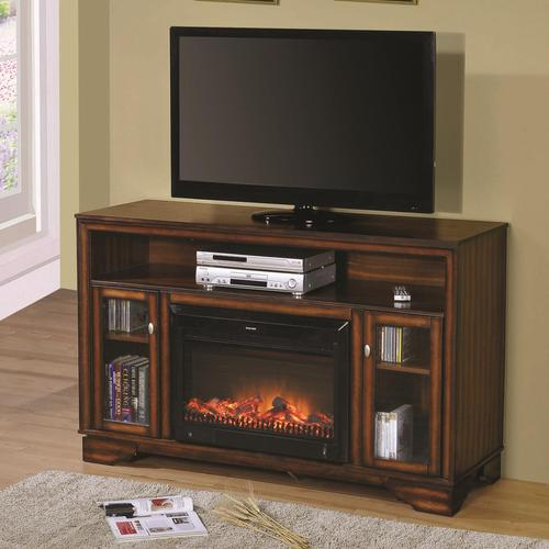 Acme Furniture Calvert Television Stand W Fireplace Heater