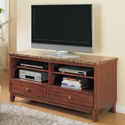 7094 TV Stand with 2 Drawers and Marble Top