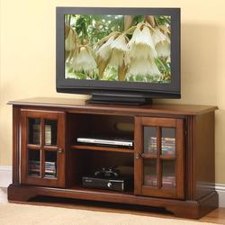 Basma TV Stand with 2 Glass Doors