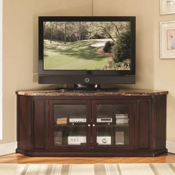Nevin Corner TV Stand W/ Faux Marble Top