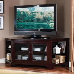 Namir Espresso Corner TV Stand with Storage