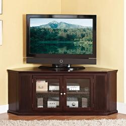 Matope Corner TV Stand W/ Glass Doors