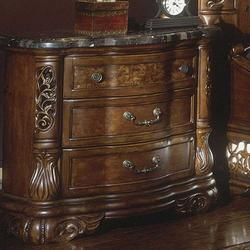 Excelsior Three-Drawer Stone Top Nightstand