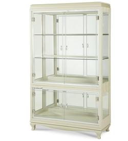 After Eight Glass Curio with Four Doors and Two Shelves