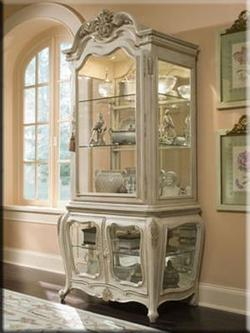 Lavelle Curio Cabinet with Three Glass Doors