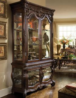 Essex Manor Curio with Glass Doors