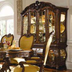 Palais Royale China Cabinet with Beveled Glass Doors & Hand-Carved Details