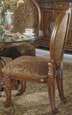 Go To Product Excelsior Upholstered Dining Side Chair With Carving Accents