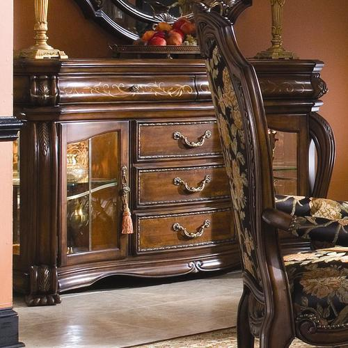 Aico amini innovation oppulente traditional sideboard with for Traditional dining room sideboard