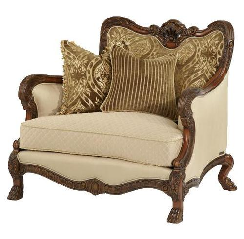 Aico Amini Innovation Chateau Beauvais Wood Trim Chair And A Half With Elegant High End