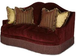 Imperial Court - EGPLT Tufted Love Seat w/ Camel Back