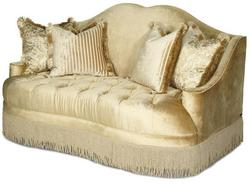 Imperial Court - PEARL Tufted Love Seat w/ Camel Back