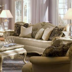 Lavelle Tufted Sofa with Wood Trip
