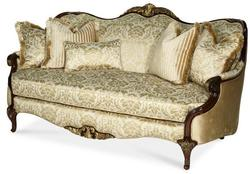 Imperial Court - CHPGN Wood Trim Stationary Sofa