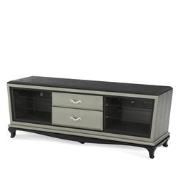 After Eight Entertainment Console with Four Glass Shelves