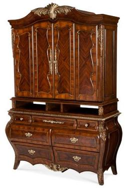Imperial Court Media Cabinet w/ 4 Wood Doors