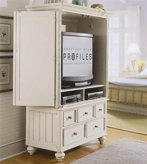 American Drew Camden Light Armoire With 5 Drawers