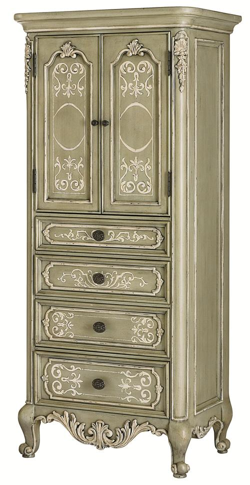 Jessica Mcclintock Home The Boutique Collection Display Jewelry Cabinet With Verdigris Finish