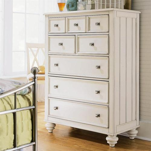 American Drew Camden Light 5 Drawer Chest With Nickel