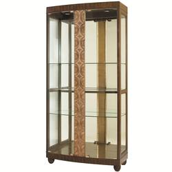 Bob Mackie Home Curio Cabinet with Bronze Leaf Accents