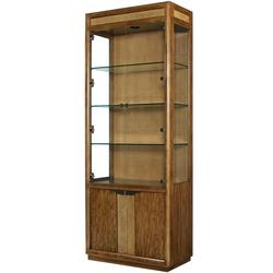 Grove Point Bunching Curio Cabinet with 4 Doors and 4 Shelves