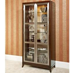 Motif Bunching Curio Cabinet with 2 Doors and 4 Shelves