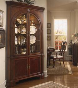Cherry Grove 45th Traditional Corner China Cabinet