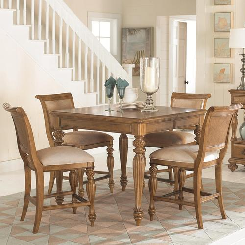 american drew grand isle 5 piece square counter height leg table with one 20 39 leaf counter. Black Bedroom Furniture Sets. Home Design Ideas
