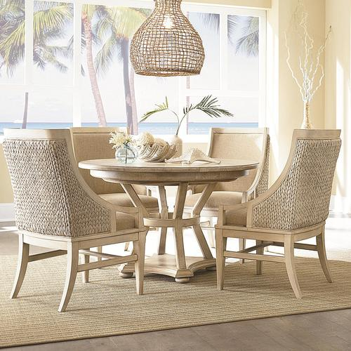 Americana Home 5 Piece Artisanu0027s Round Table with 4 Freeport Accent Chairs Set & American Drew Americana Home 5 Piece Artisanu0027s Round Table with 4 ...