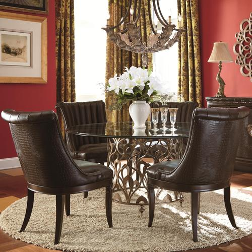 American drew bob mackie home dining table and side chair set for American drew bob mackie bedroom furniture