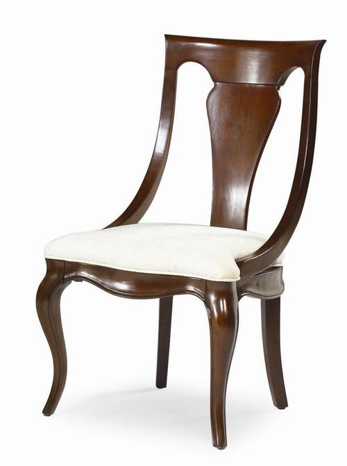 american drew cherry grove sling back dining room chair