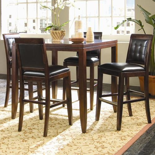 chairs noah chocolate bar wood rm sets room chair dark pc product dining height dr