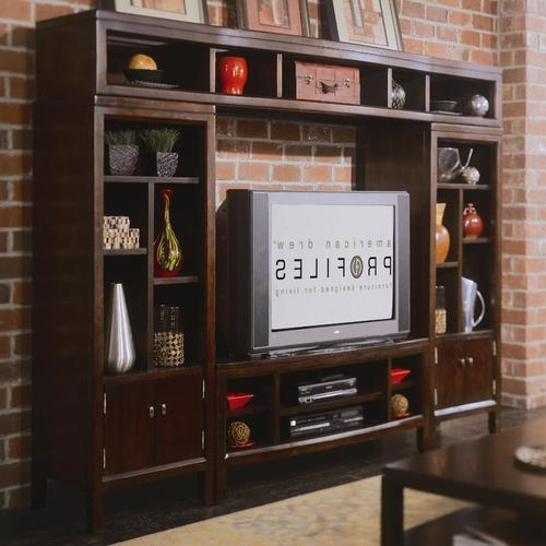 Tribecca 64u0027 Entertainment Center U0026 Bookshelf Storage Wall Unit