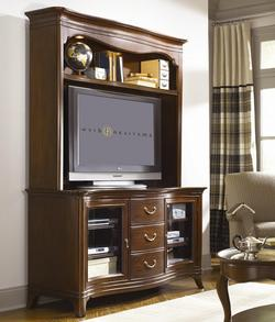 Cherry Grove Entertainment Center with Drawers and Shelf