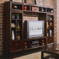 Tribecca Entertainment Center & Bookshelf Storage Wall Unit