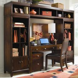 Tribecca Desk and Bookcase Wall Unit