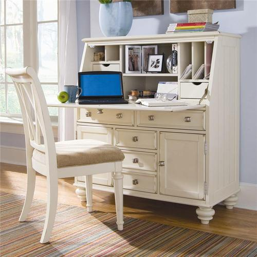 American Drew Camden Light Secretary Desk With Drop Down Lid