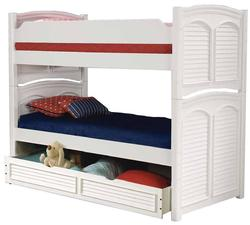 Cottage Traditions Twin Bunk Bed with Trundle