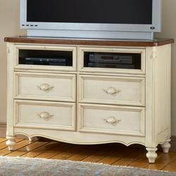 Chateau Four Drawer, Two Door Media Chest