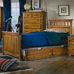 Timberline Twin Panel Bed with Trundle