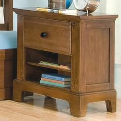 Bradford Youth Small Nightstand with Drawer and 2 Shelves