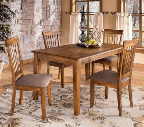 Ashley furniture berringer 5 piece 36x60 table chair set for Ashley furniture dinette sets
